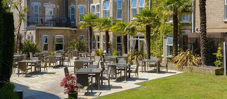 Connaught Hotel garden terrace